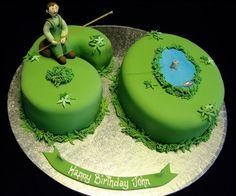 60th gone fishing birthday cake