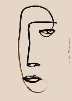 A portrait illustration by Loulou Avenue. Poster Designer - Liv Ann van der Laan also know as Loulou Avenue is a Dutch visual artist. Portraits Illustrés, Tatoo 3d, Tattoo, Frida Art, Kunst Poster, Dutch Artists, Portrait Illustration, Collage Illustration, Photography Illustration
