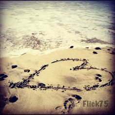 I drew this heart in the sand in Oceanside on New Years Day 2012