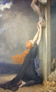 Jules Joseph Lefebvre, (1836–1911): El dolor de María Magdalena.