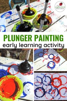 Plunger Painting - Fun for all ages! - The Empowered Educator