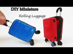 DIY Miniature Rolling Luggage look like Realistic - very easy crafts ideas - YouTube