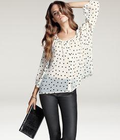 blouse + skinny pants @h&m