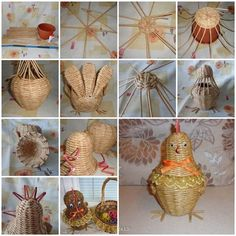 DIY Weaving Paper Chicken Storage Basket | iCreativeIdeas.com Like Us on Facebook ==> https://www.facebook.com/icreativeideas