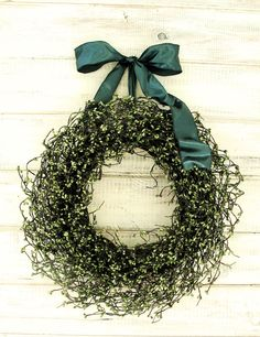 Spring Wreath-Spring Door Decor-Summer Wreath-RUSTIC SAGE GREEN Wreath-Wedding Gift-Woodland Wedding Decor-Rustic Home-Choose Scent & Ribbon by WildRidgeDesign on Etsy https://www.etsy.com/listing/123182036/spring-wreath-spring-door-decor-summer