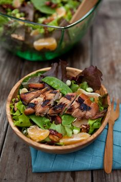 Honey Sesame Dressing Asian Chicken Salad Chicken (soy sauce = coconut aminos and grape seed oil = coconut oil)