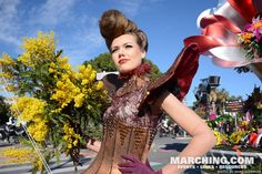 Creative floats and costumes delight crowds at 2015 Carnaval de Nice (Carnival flower parade in Nice, France)