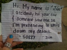 World's Most Entertaining Windshield Notes