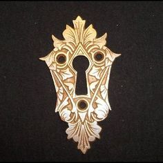 Antique style diamond white furniture box escutcheon keyhole key hole