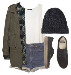 """""""Vans"""" by feathersandroses ❤ liked on Polyvore featuring Wrangler, Vero Moda, Hope and Vans"""