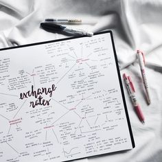 """eintsein: """"9.1.17 // exchange rates mind map from yesterday's study sesh. meeting w an alumni from one of the universities i wanna apply to today, hope things go well ✨ maybe follow my studygram? """""""