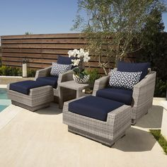 Wade Logan Alfonso 5 Piece Club Seating Group with Cushions & Reviews | Wayfair