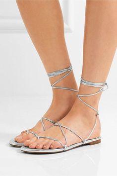 783620176 Michael Kors Collection - Bradshaw metallic leather sandals