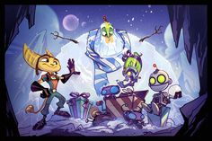 Ratchet and Clank holiday! by CreatureBox on Deviantart