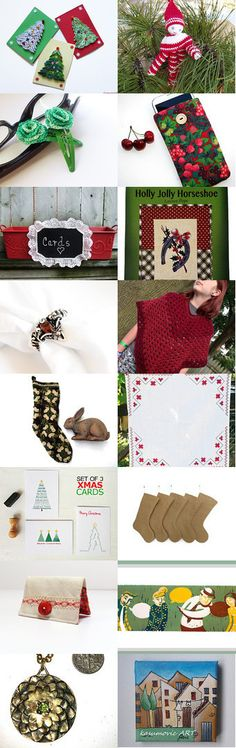 Christmas Gift Guide by gclasergraphics on Etsy--Pinned with TreasuryPin.com featuring my Holly Jolly Horseshoe Pattern