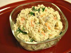 常備菜 : 白和え(ほうれん草・にんじん・椎茸の煮物・ごぼうのやわらか煮・すりごま・水切り豆腐・キビ糖・薄口しょうゆ)