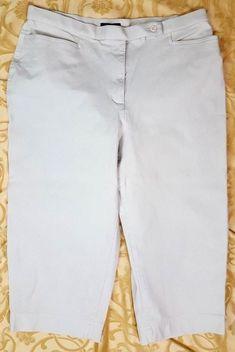 82c3cc6bd50 Westbound Essentials Womans Plus Size 16 Beige Jeans Cotton Spandex Pants   WestboundWoman  CaprisCropped
