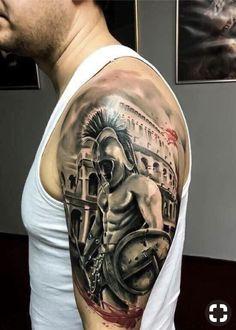 Warrior Tattoo Sleeve, Armor Tattoo, Warrior Tattoos, Sleeve Tattoos, Cool Arm Tattoos, Forearm Tattoos, Body Art Tattoos, Tattoos For Guys, Indian Girl Tattoos