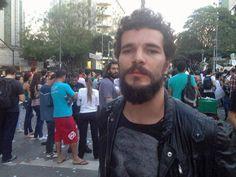 Daniel de Oliveira no #protesto em BH