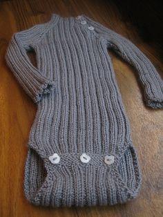 Knit baby onesie pattern