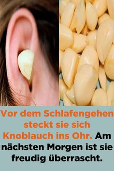 She puts garlic in her ear before bedtime. Am nächsten Morgen ist… She puts garlic in her ear before bedtime. The next morning she is pleasantly surprised. Beauty Care, Beauty Hacks, Cat Exercise, Natural Sugar, Aloe Vera Gel, Low Carb Diet, Dark Makeup, Detox Drinks, How To Stay Healthy