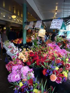 Pike Place Market flowers, Seattle