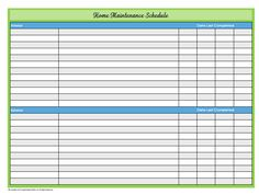 Click to Download the Blank Home Maintenance Schedule