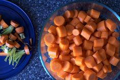 Carrot Puree-Stage 1 1 lb. fresh carrots 1 c. water  Peel carrots & cut into 1-inch pieces. Put in medium saucepan with water. Bring to boil, reduce to simmer, cover & cook for 25 min. Let cool. Purée in a food processor & freeze in small portions.