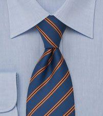 Blue and Orange Necktie