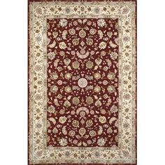 American Home Rug Co. Hand-Tufted Burgundy/Red Area Rug Rug Size: 12' x 18'