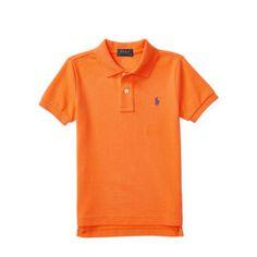 Polo by Ralph Lauren - Cotton Mesh Polo Shirt - Electric Melon - $35.00 - sizes:  2T, 3T & 4T/4