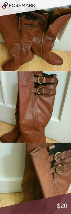 Brown knee high boots Fairly new. size 8.5 Shoes Over the Knee Boots