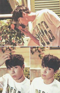 J-Hope, Hobi, Hoseok, scan, flowers