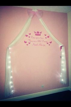 Princess bedroom DIY made by myself in total cost less than £35