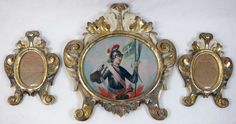 3 Barock-Rahmen, Bild des Hl. Florian, 18. Jh.