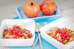 Quinoa ontbijt met granaatappel