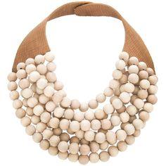 ROSSANA FANI 'Isabella' handmade beaded necklace ($175) ❤ liked on Polyvore