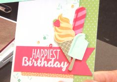 Stampin Up Occasions Catalogue 2017 On Stage stamping presentation sample by SU presenters using Cool Treats stamp set. Click through for 9 more OnStage samples.
