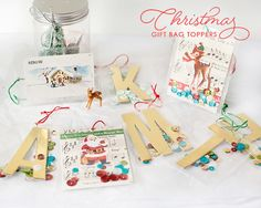 Gift Bag Toppers by MarieL at @studio_calico