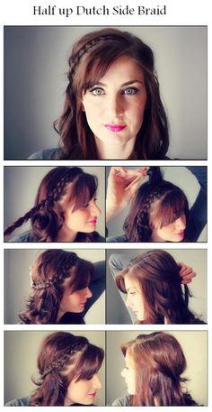 Make A Half up Dutch Side Braid | hairstyles tutorial