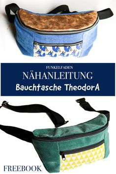 Free sewing pattern for large TheodorA Funkelfaden fanny pack - Free sewing pattern for large belly bag TheodorA Funkelfaden ›Miscellaneous› Sewing bag sewing - Bag Patterns To Sew, Sewing Patterns Free, Free Sewing, Pattern Sewing, Free Pattern, Stitching Patterns, Sewing Projects For Beginners, Sewing Tutorials, Sewing Tips