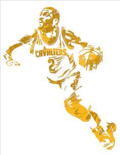 9ded602e107 Kyrie Irving Cleveland Cavaliers Pixel Art 11 Art Print by Joe Hamilton