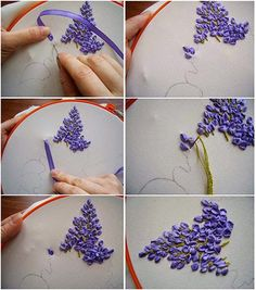 Great embroidery with ribbon tutorials on Orgum.
