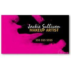 Customizable Makeup Artist Business Card Template. Designed by ...