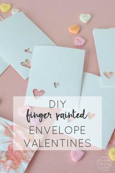 DIY Finger Painted E