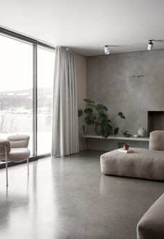 A minimalist house by a Norwegian lake | These Four Walls blog