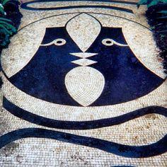 Villa Santo Sospir, mosaics & frescoes by Jean Cocteau, Saint Jean Cap Ferrat Floor Patterns, Textile Patterns, Jean Cocteau, Ferrat, Artist Life, French Riviera, Art And Architecture, Mosaic Tiles, Saints