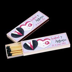 Cajas de cerillas para Bodas modelo Cigar.