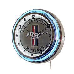 Carroll Shelby Revolving Light — Mustang 50 Years Logo #2: a5302a1cdd4f edfb88d8ee neon clock ford mustangs