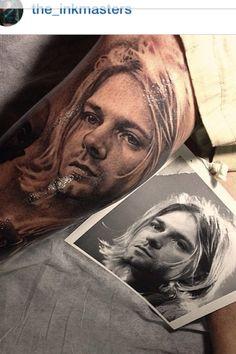 Kurt Cobain tattoo...wow!!